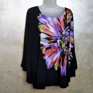 Dramatic Style & Co Batwing Top Like New XL/1X